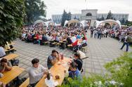 Chisinau, Republic of Moldova - October 1, 2016: Celebration National Wine Day Stock Photos