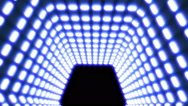 Illuminated tunnel, seamless animation Stock Footage