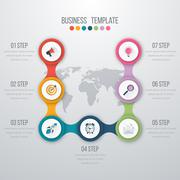 Vector illustration infographics seven options Stock Illustration