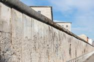 Remains of the Berlin Wall. Stock Photos
