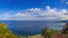 Timelapse taormina bay sicily Stock Footage