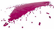 Pink fluid flow hits a surface. Colored paint Stock Footage