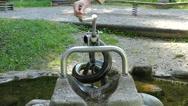 Slow Motion Berchtesgaden National Park Kinder playground Archimedean Spiral Stock Footage