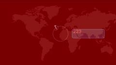 4k Global GPS data detect earth map military radar GPS navigation interface. Stock Footage