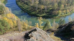 River Berd in fall time Stock Footage