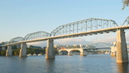 4K Chattanooga and Tennessee River Bridges Stock Footage