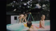 1972: swimming scene LYNBROOK, NEW YORK Stock Footage