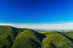 Breathtaking landscape of Ukrainian Carpathian mountains Stock Photos