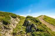 Wonderful landscape of Ukrainian Carpathian mountains Stock Photos
