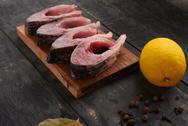 Fresh fish - cooking restaurant Stock Photos