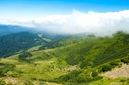 Wonderful landscape of Ukrainian Carpathian mountains Stock Photos