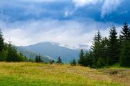 Beautiful landscape of Ukrainian Carpathian mountains Stock Photos