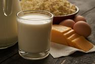 Dairy products closeup Stock Photos
