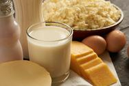 Dairy products closeup Stock Photos