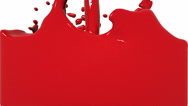 Turbulent red liquid filling the frame. Colored paint Stock Footage
