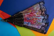Multicolored fan disclosed Stock Photos
