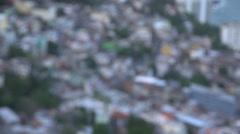 Favela Vidigal, slum in Rio de Janeiro Stock Footage