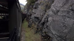 Passenger's Perspective Riding the Skagway Railroad in Alaska  	 Stock Footage