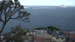 Rio de Janeiro sea seen from favela Stock Footage