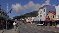 Day Establishing Shot of Ketchikan Alaska  	 Stock Footage