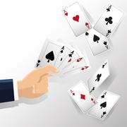 Hand and Cards of Poker design Piirros