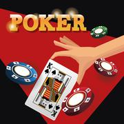 Cards of poker and chips design Stock Illustration