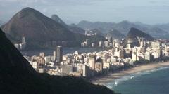 Ipanema seen from favela, Rio de Janeiro Stock Footage