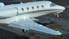 Cessna Citation XLS + Air to Air Gear Down Stock Footage