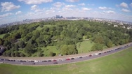 Aerial view of Greenwich park Stock Footage