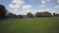 Aerial view of Greenwich park with London City in background Stock Footage