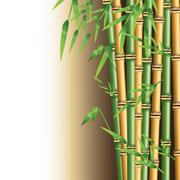 Bamboo trunk with leaves design Piirros