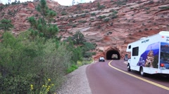 Zion National Park , Sept 2016, Motorhome travel Stock Footage