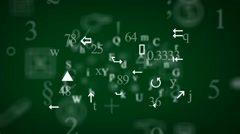 Trembling letters and signs - Background Loop - Symbols and drawings - Green. Stock Footage