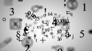 Trembling letters and signs - Background Loop - Symbols and drawings - White  Stock Footage