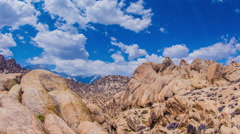Time Lapse - Beautiful Clouds Moving Over Rock Formation in Alabama Hills Stock Footage