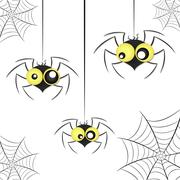 Black spider weighs Stock Illustration
