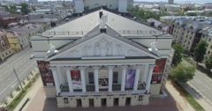 Aerial shot. museums mansions parks landmarks churches and monuments of Russian Stock Footage