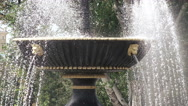 Fountain in city park Stock Footage