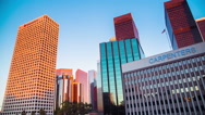 Time Lapse - Los Angeles Downtown at Dusk Stock Footage