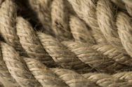 Old rope close up Stock Photos