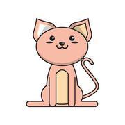 Isolated cat cartoon design Stock Illustration