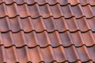 Red tiles roof background Stock Photos