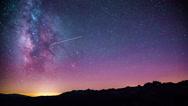 Time Lapse - Beautiful Milky Way Galaxy above Mountain Range Stock Footage
