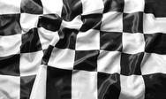Checkered black and white flag Stock Photos