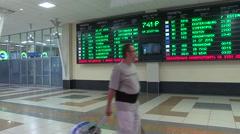 Departures board. Stock Footage
