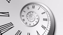 Spiral Clock Seamless Infinite Zoom Motion Background Version 2 Silver Stock Footage