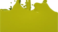 Turbulent yellow liquid filling the frame. Colored paint Stock Footage