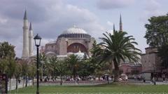 The Hagia Sophia in Istanbul city. Turkey, 4K Stock Footage