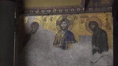 Mosaic At Hagia Sophia in Istanbul city. Turkey, 4K Stock Footage