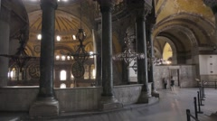 The Hagia Sophia in Istanbul city. Interior. Turkey, 4K Stock Footage